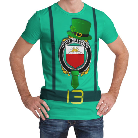 Irish Shirt, Leeson Family Crest Saint Patrick's Day T-Shirt