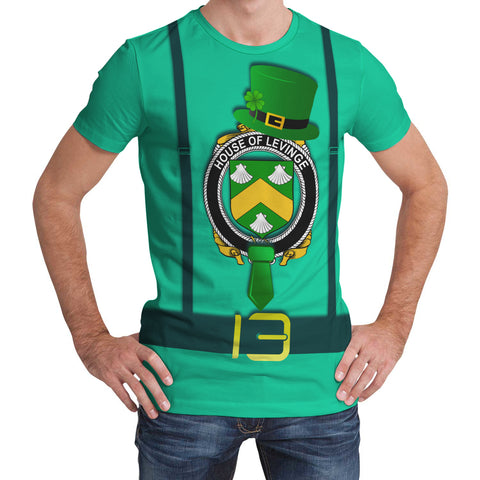 Irish Shirt, Levinge or Levens Family Crest Saint Patrick's Day T-Shirt