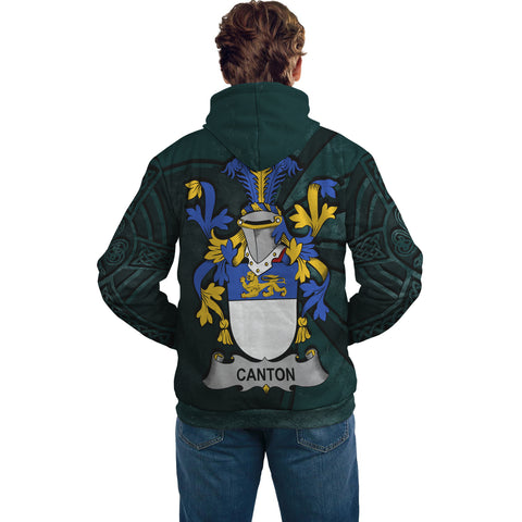 Ireland Surname Hoodie, Canton Family Crest Coat Of Arms Pullover Hoodie Ridire Style