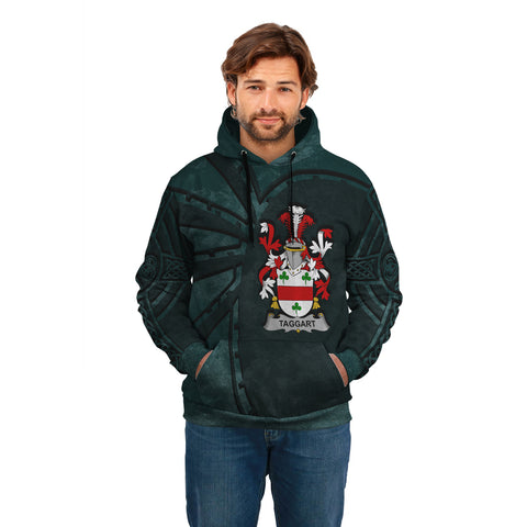 Ireland Surname Hoodie, Taggart or McEntaggart Family Crest Coat Of Arms Pullover Hoodie Ridire Style