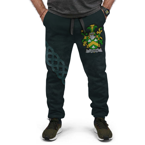 Image of Levinge or Levens Family Crest Joggers