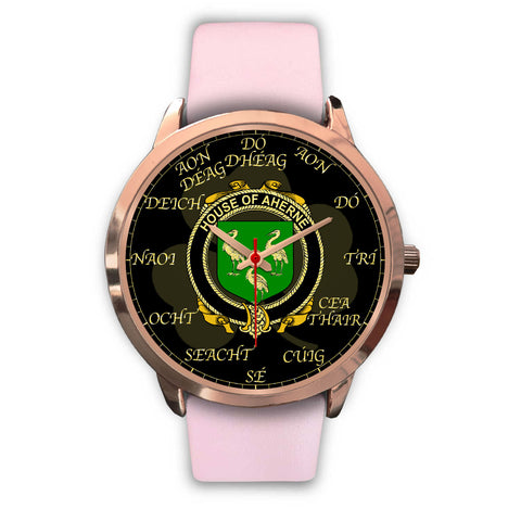 Irish Watch, Aherne or Mulhern Ireland Family Rose Gold Watch TH7