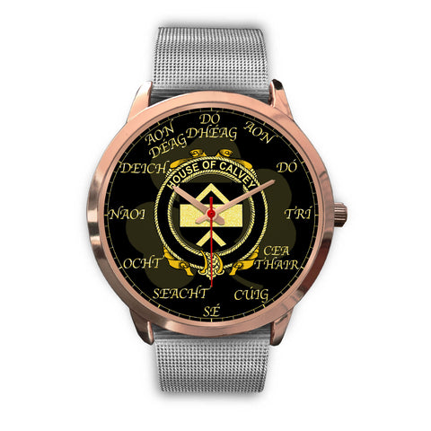 Image of Irish Watch, Calvey or McElwee Ireland Family Rose Gold Watch TH7