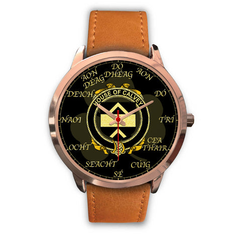 Irish Watch, Calvey or McElwee Ireland Family Rose Gold Watch TH7