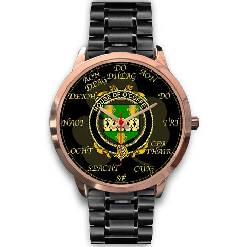 Irish Watch, Coffey or O'Coffey Ireland Family Rose Gold Watch TH7