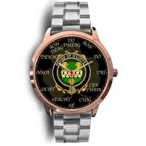 Image of Irish Watch, Coffey or O'Coffey Ireland Family Rose Gold Watch TH7