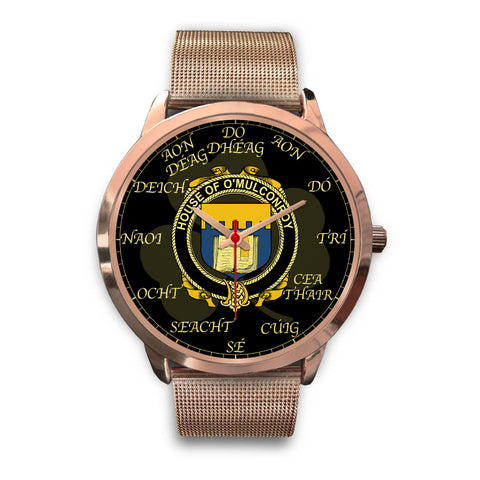 Image of Irish Watch, Conroy or O'Mulconroy Ireland Family Rose Gold Watch TH7