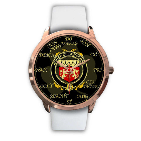 Irish Watch, Corcoran or McCorcoran Ireland Family Rose Gold Watch TH7
