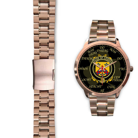 Irish Watch, Cosker or McCosker Ireland Family Rose Gold Watch TH7