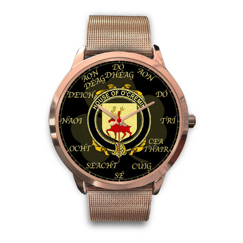 Irish Watch, Cremin or O'Cremin Ireland Family Rose Gold Watch TH7