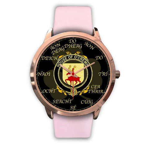 Image of Irish Watch, Cremin or O'Cremin Ireland Family Rose Gold Watch TH7