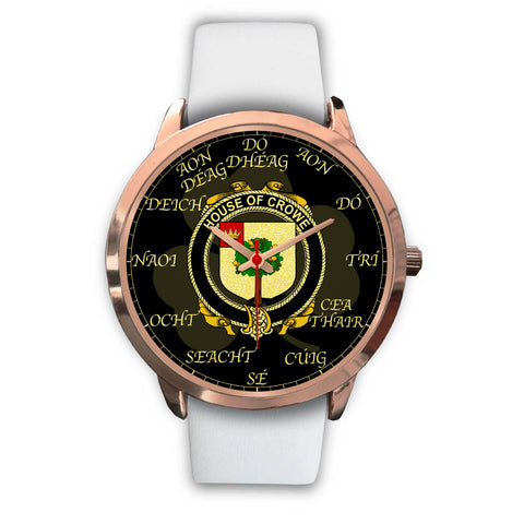 Irish Watch, Crowe or McEnchroe Ireland Family Rose Gold Watch TH7