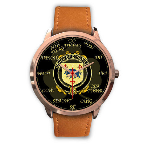 Irish Watch, Crowley or O'Crouley Ireland Family Rose Gold Watch TH7