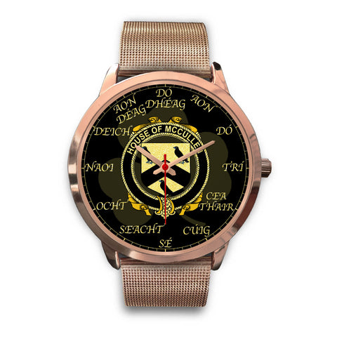 Irish Watch, Cullen or McCullen Ireland Family Rose Gold Watch TH7