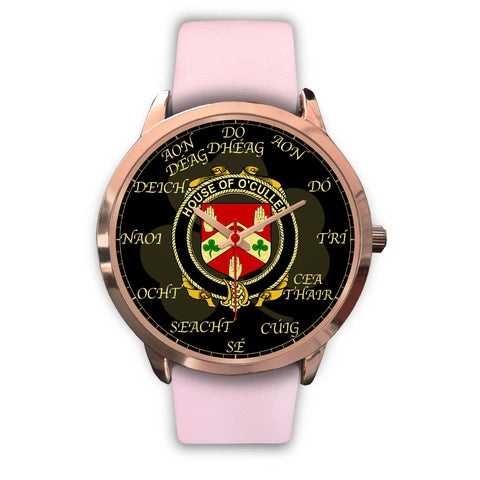 Image of Irish Watch, Cullen or O'Cullen Ireland Family Rose Gold Watch TH7