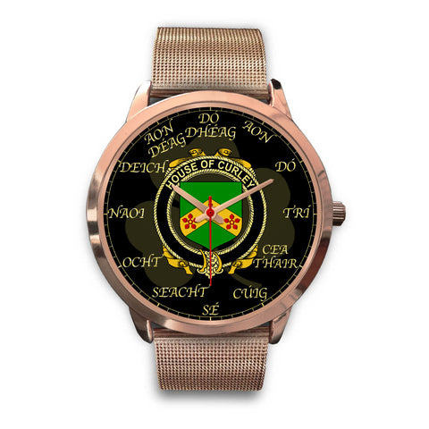 Irish Watch, Curley or McTurley Ireland Family Rose Gold Watch TH7