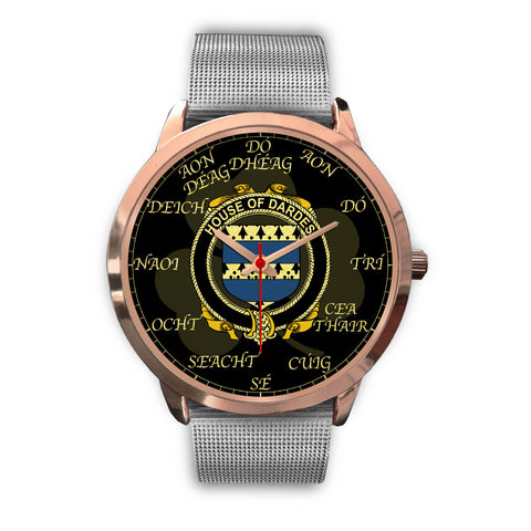 Irish Watch, Dardes or Dardis Ireland Family Rose Gold Watch TH7