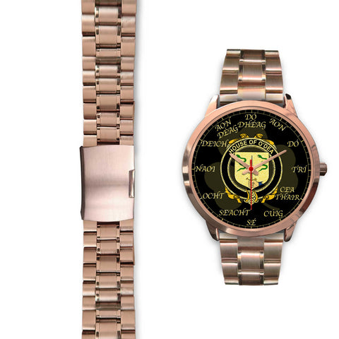 Image of Irish Watch, Dea or O'Dea Ireland Family Rose Gold Watch TH7
