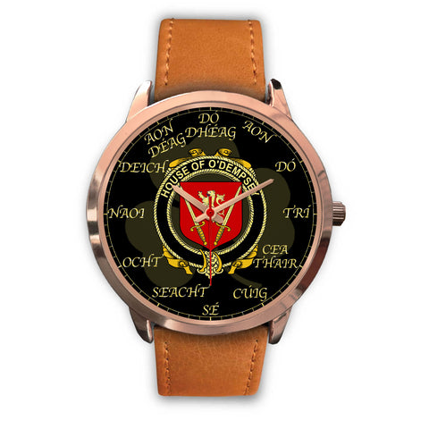 Image of Irish Watch, Dempsey or O'Dempsey Ireland Family Rose Gold Watch TH7