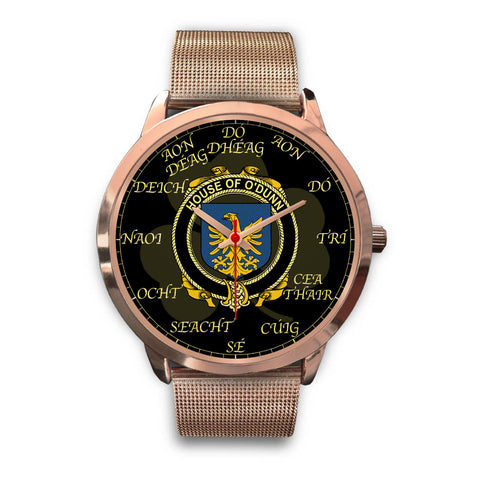Irish Watch, Dunn or O'Dunn Ireland Family Rose Gold Watch TH7