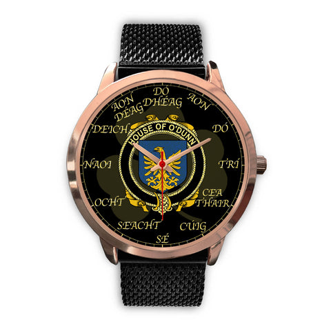 Image of Irish Watch, Dunn or O'Dunn Ireland Family Rose Gold Watch TH7