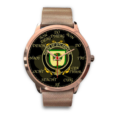 Image of Irish Watch, Flanagan or O'Flanagan Ireland Family Rose Gold Watch TH7