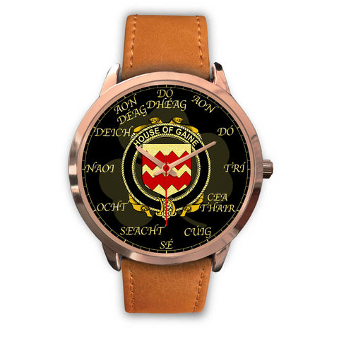 Image of Irish Watch, Gaine or Gainey Ireland Family Rose Gold Watch TH7