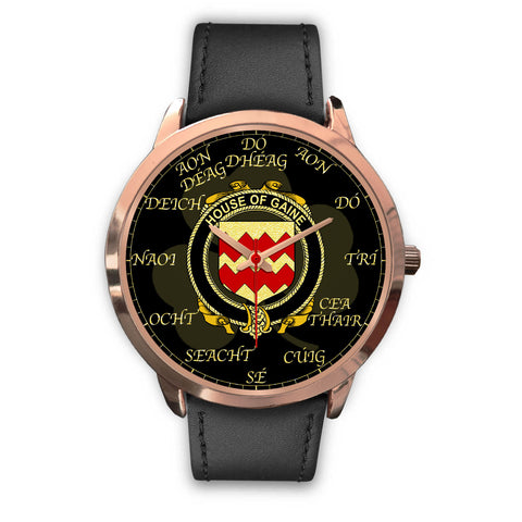 Irish Watch, Gaine or Gainey Ireland Family Rose Gold Watch TH7