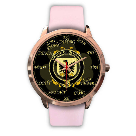 Irish Watch, Gernon or Garland Ireland Family Rose Gold Watch TH7
