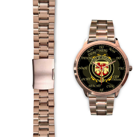 Irish Watch, Kavanagh or Cavanagh Ireland Family Rose Gold Watch TH7