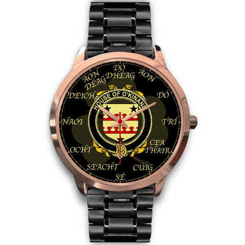 Image of Irish Watch, Kinnane or O'Kinane Ireland Family Rose Gold Watch TH7
