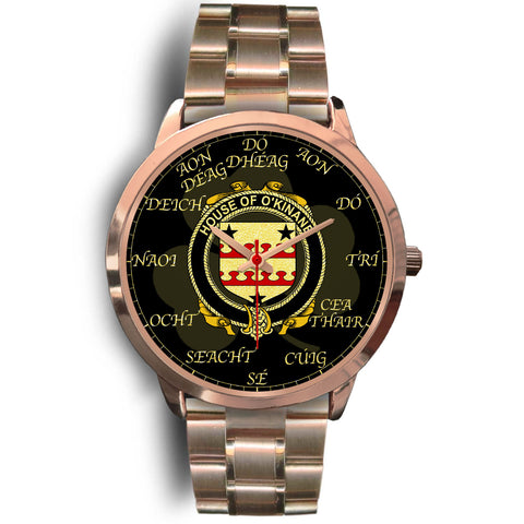 Irish Watch, Kinnane or O'Kinane Ireland Family Rose Gold Watch TH7
