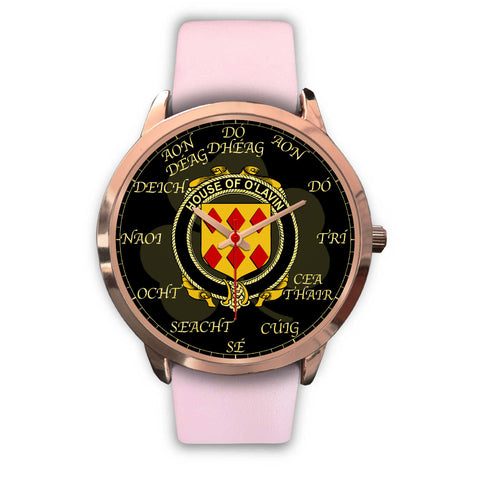 Irish Watch, Lavin or O'Lavin Ireland Family Rose Gold Watch TH7