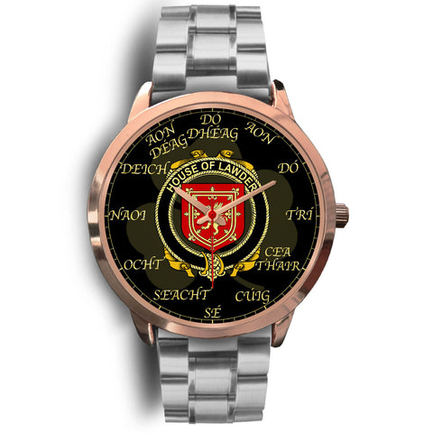 Image of Irish Watch, Lawder or Lauder Ireland Family Rose Gold Watch TH7