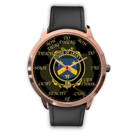Irish Watch, Lecky or Lackey Ireland Family Rose Gold Watch TH7