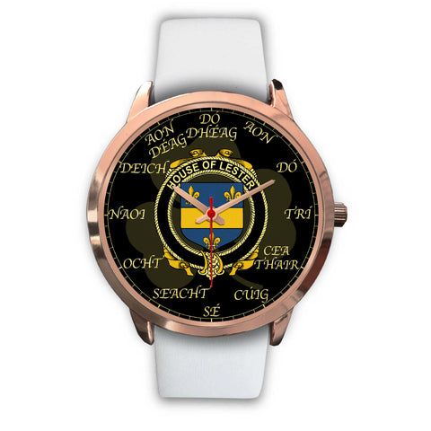 Irish Watch, Lester or McAlester Ireland Family Rose Gold Watch TH7