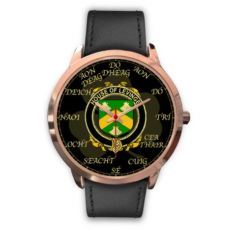 Irish Watch, Levinge or Levens Ireland Family Rose Gold Watch TH7