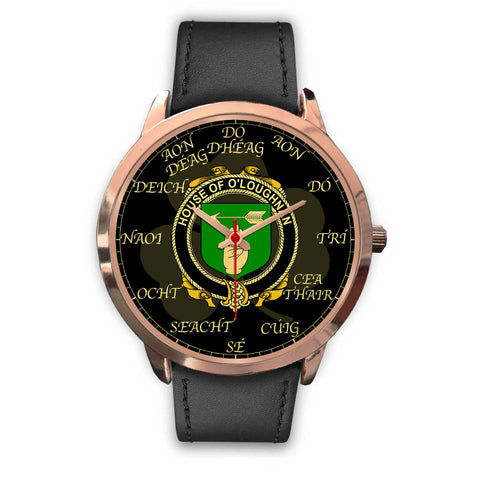 Irish Watch, Loughnan or O'Loughnan Ireland Family Rose Gold Watch TH7