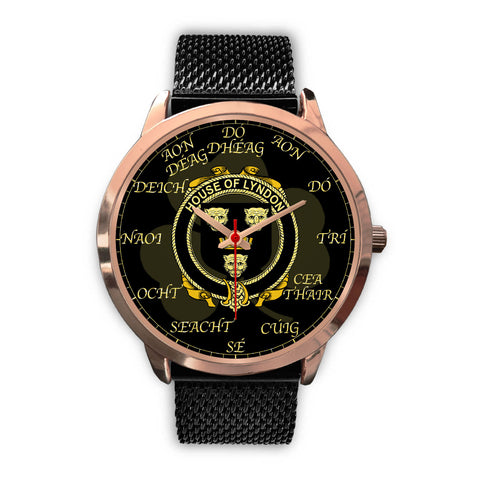 Irish Watch, Lyndon or Gindon Ireland Family Rose Gold Watch TH7