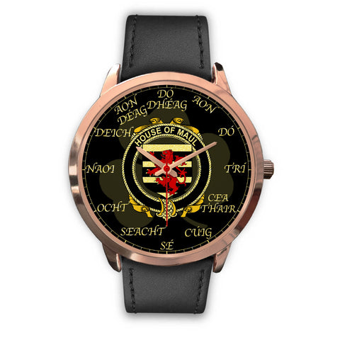 Irish Watch, Maul or Maule Ireland Family Rose Gold Watch TH7