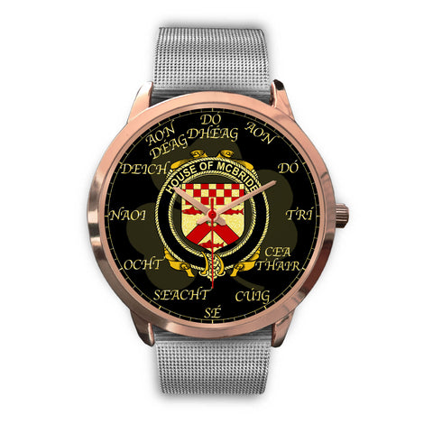 Image of Irish Watch, McBride or MacBride Ireland Family Rose Gold Watch TH7