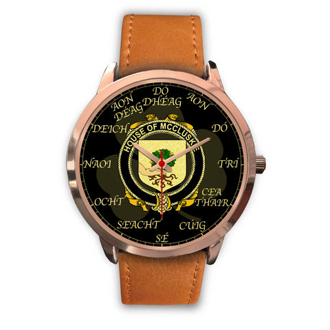 Irish Watch, McCluskie or McCloskie Ireland Family Rose Gold Watch TH7