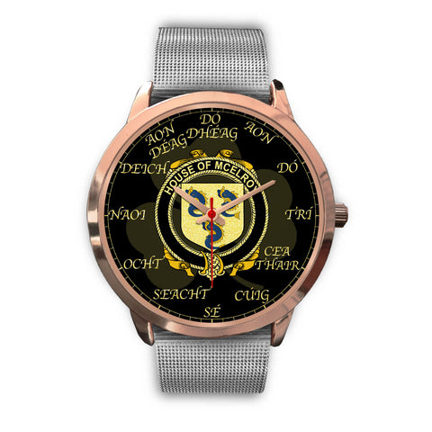 Irish Watch, McElroy or Gilroy Ireland Family Rose Gold Watch TH7
