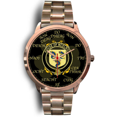 Image of Irish Watch, McElroy or Gilroy Ireland Family Rose Gold Watch TH7