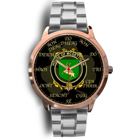 Irish Watch, McGettigan or Gethin Ireland Family Rose Gold Watch TH7