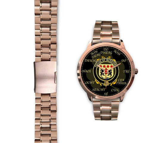 Image of Irish Watch, McKeown or Keon Ireland Family Rose Gold Watch TH7