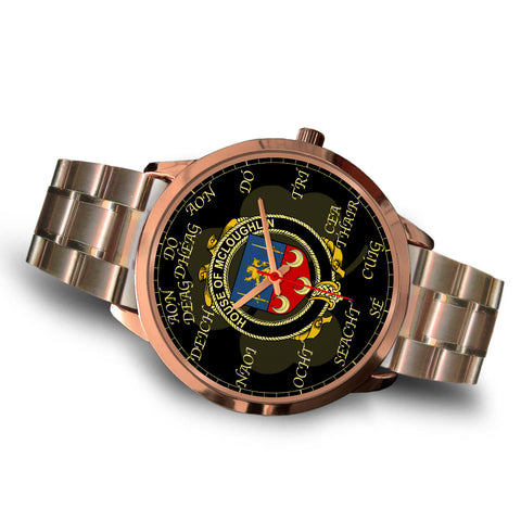 Image of Irish Watch, McLoughlin or Loughlin Ireland Family Rose Gold Watch TH7