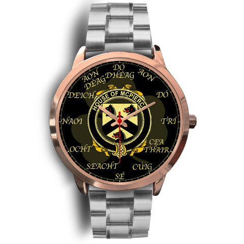 Irish Watch, McPierce or Pierce Ireland Family Rose Gold Watch TH7