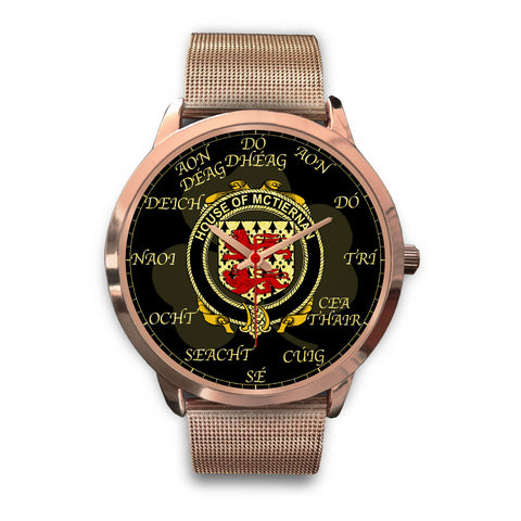 Irish Watch, McTiernan or Kiernan Ireland Family Rose Gold Watch TH7