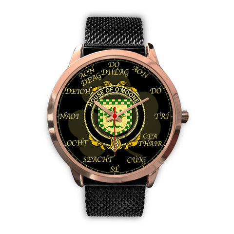 Irish Watch, Mooney or O'Mooney Ireland Family Rose Gold Watch TH7
